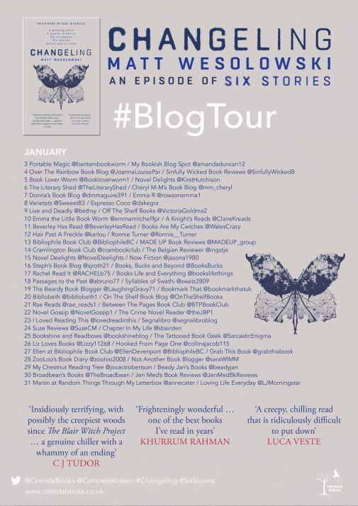 changeling blog tour poster